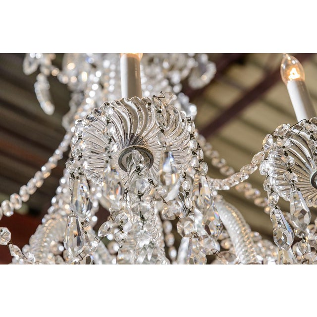 Pair of Cut Crystal Chandeliers For Sale - Image 4 of 9