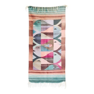 Vintage Woven Fish Wall Hanging