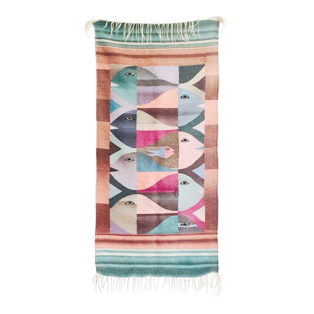 Vintage Woven Fish Wall Hanging For Sale