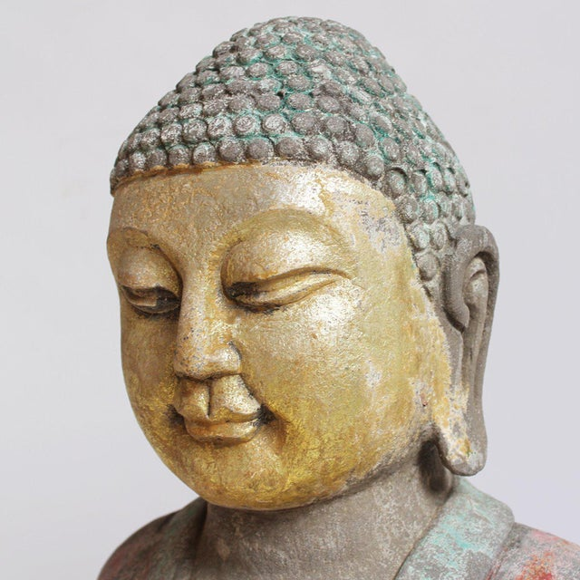 Asian Stone Garden Buddha For Sale - Image 3 of 3