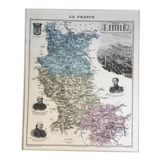 "19th C. ""La France"" Map of France For Sale"