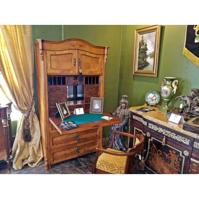 Brown 19c French Louis Philippe Yew Wood Secretaire with Secret Drawers For Sale - Image 8 of 10