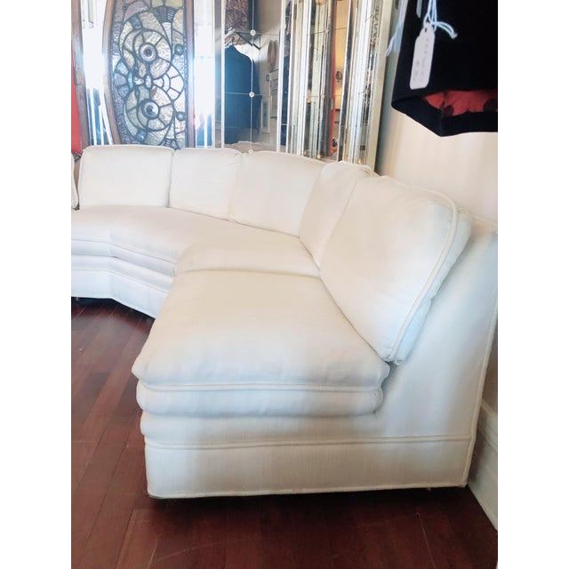 1980s Vintage 1984 White Sherrill Sectional Sofa For Sale - Image 5 of 11