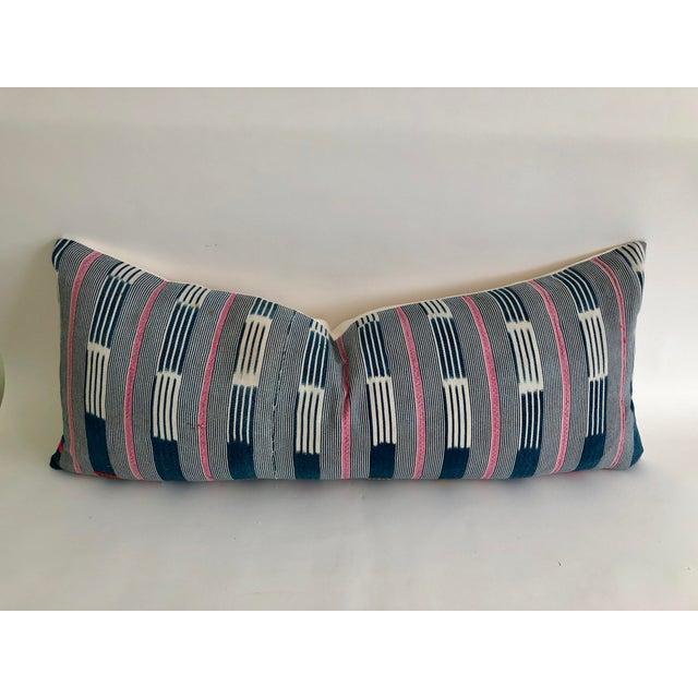 2010s Vintage Baule Handwoven Textile Bolster For Sale - Image 5 of 6