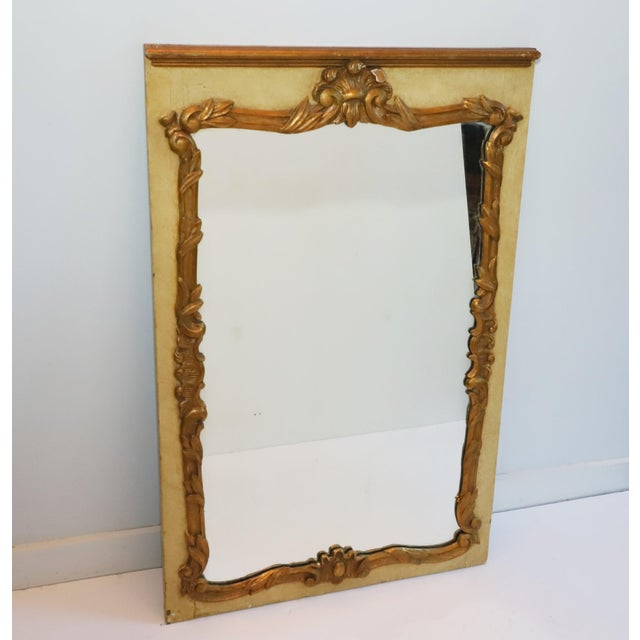1930s French Painted and Gilt Gesso Waldorf Astoria Mirror For Sale - Image 9 of 9