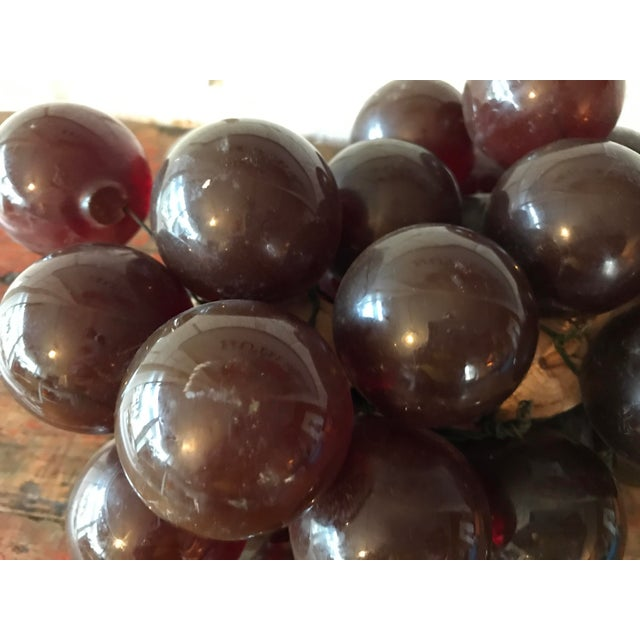 Brown Vintage Brown Resin Grape Cluster For Sale - Image 8 of 10