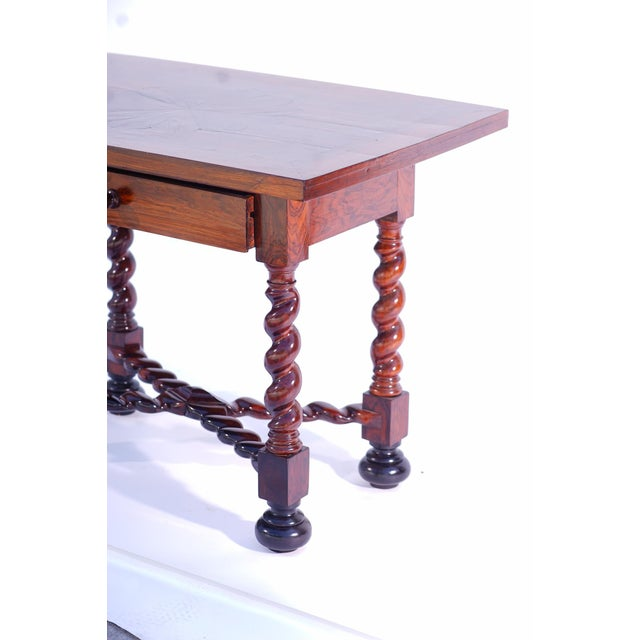 19th C. Portuguese Rosewood Table For Sale - Image 4 of 5