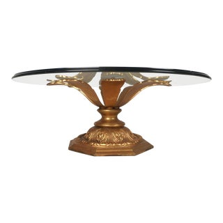 Midcentury Arthur Court Style Gilt Metal Flow Coffee Table For Sale