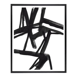 "Large Black and White Abstract Modern Art - ""Shadows #2"" Unframed Giclée Print"