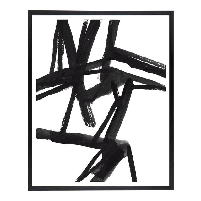 """Large Black and White Abstract Modern Art - """"Shadows #2"""" Unframed Giclée Print For Sale"""