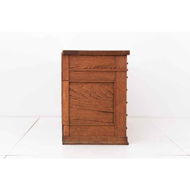 Frank Lloyd Wright Pedestal Desk from Frank L. Smith Bank - Image 3 of 10