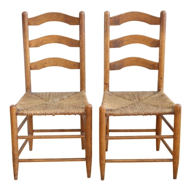 Antique Ladder Back Chair - a Pair - Antique Ladder Back Chair - A Pair Chairish