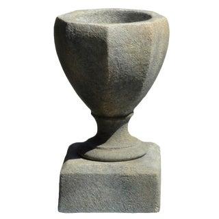 Octagonal Urn on Pedestal For Sale