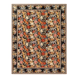 Multi Color Fine Hand Knotted Abusson Rug 8' X 10' For Sale