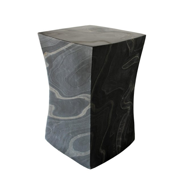 Beslana Block Side Table - Black Marble For Sale - Image 9 of 9