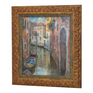 "Manfred Rapp ""Venice, Italy"" Original Oil Painting For Sale"