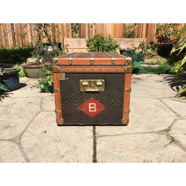 1930s Traditional Goyard Steamer Trunk For Sale - Image 10 of 13