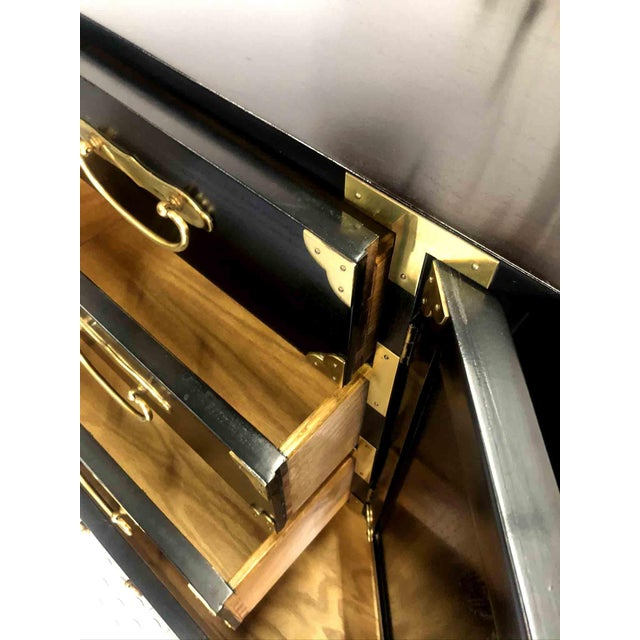 Black 1970s Chinoiserie Chest in Black and Gold by Century Furniture For Sale - Image 8 of 12