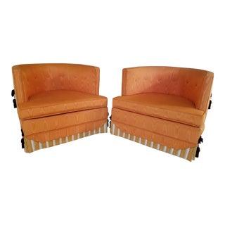 Norman Fox MacGregor for Sam Belz Orange Club Chairs - A Pair