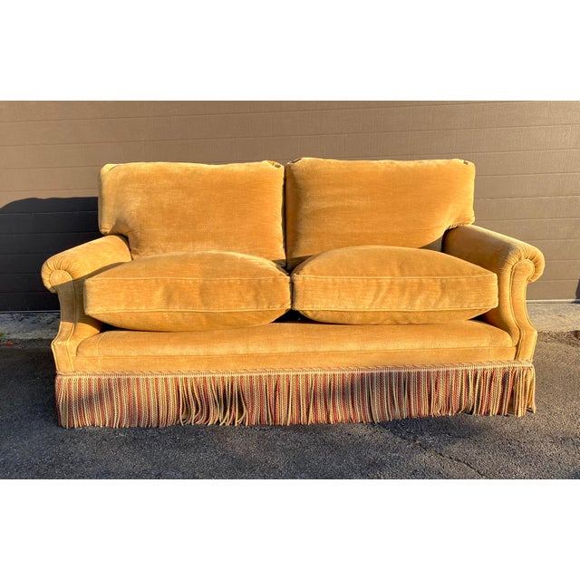 Gold George Smith Laidback Arm Sofa For Sale - Image 8 of 8