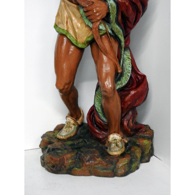 Modern Fiberglass Cigar Store Indian For Sale - Image 3 of 7