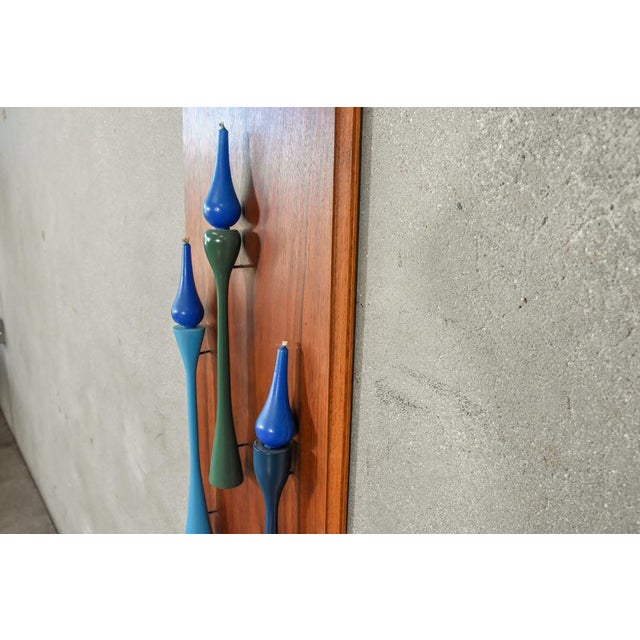 Decorative Walnut Wall Hanging Candleholder - Image 3 of 4