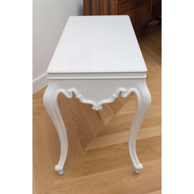 Italian Lacquered Partner Desk For Sale In San Francisco - Image 6 of 10