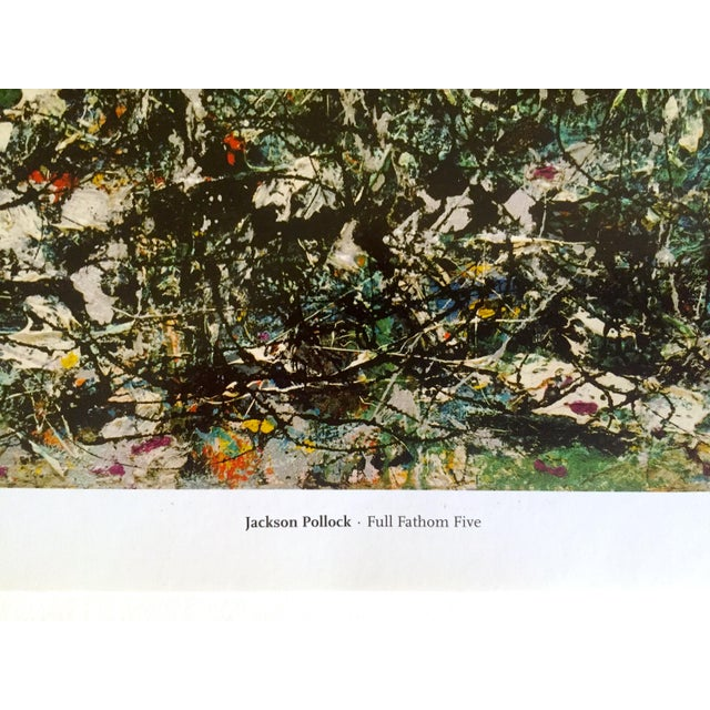 """Black Jackson Pollock Foundation Abstract Expressionist Collector's Lithograph Print """" Full Fathom Five """" 1947 For Sale - Image 8 of 12"""