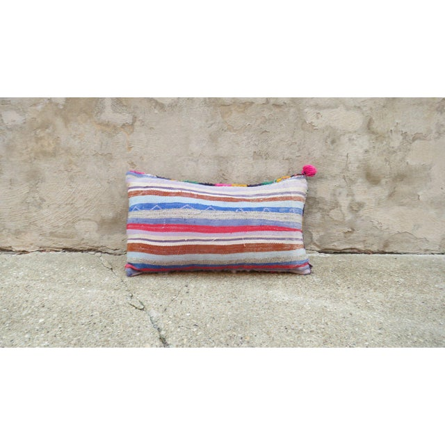 Islamic Moroccan Berber Wool Pillow For Sale - Image 3 of 3