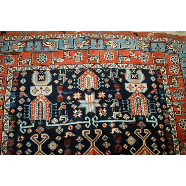 """Primitive & Tribal Persian Ghochan Rug, 4' x 5-9"""" For Sale - Image 4 of 4"""