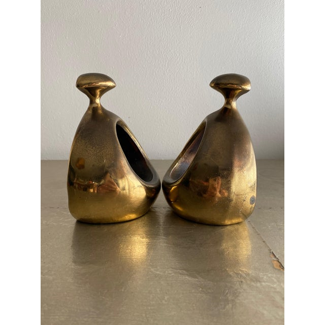 Jenfredware 1950s Vintage Ben Seibel Stirrup Bookends - a Pair For Sale - Image 4 of 10