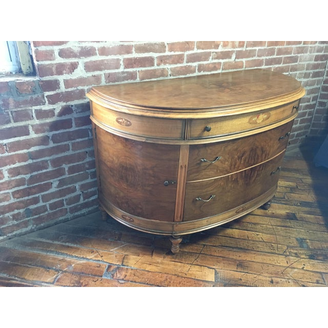 Early 20th Century 20th Century Art Nouveau Walnut Demi Lune Console For Sale - Image 5 of 13