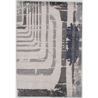 """Bamboo Silk Hand Knotted Area Rug-5'7"""" X 8'1"""" For Sale"""