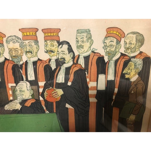 """Early 20th Century Framed Wall Art, """"Passing the Bar"""" by Adrien Barrere For Sale In Fayetteville, AR - Image 6 of 11"""