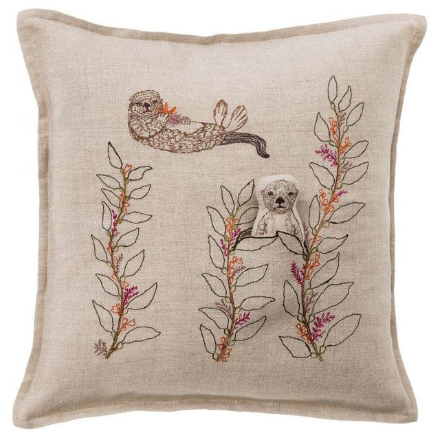 Sea Otter Pocket Pillow For Sale - Image 6 of 6