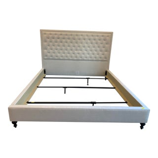 Serena and Lily Fulton Tufted King Bed For Sale