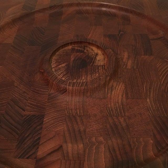 Brown Mid-Century Kalmar Designs Teakwood Serving Tray For Sale - Image 8 of 9
