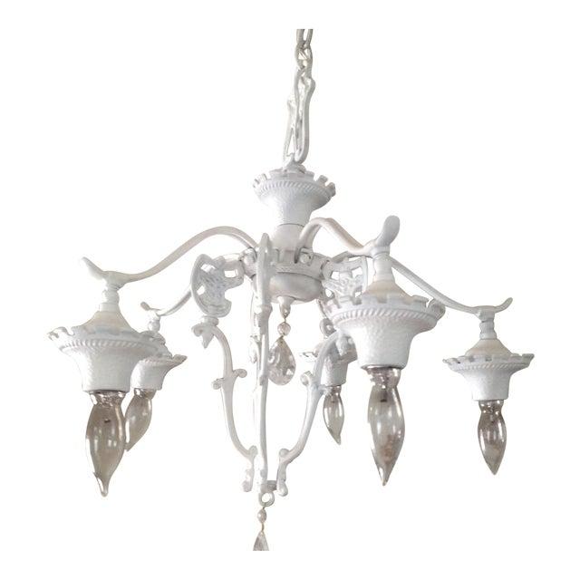 Vintage shabby chic goth white chandelier chairish vintage shabby chic goth white chandelier aloadofball Gallery