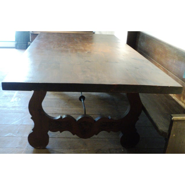 Antique Baroque Large Harvest Table - Image 6 of 11