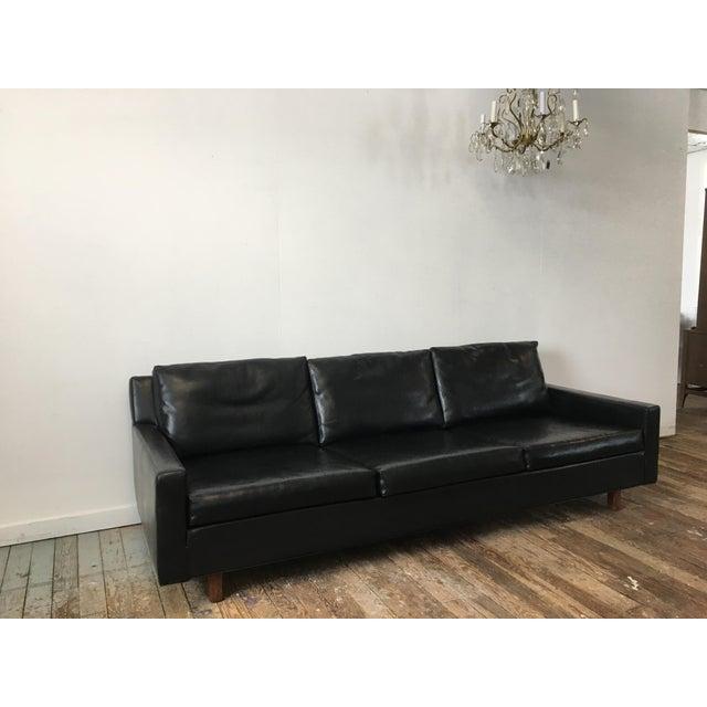 On Hold - Mid Century Black Naugahyde Sofa - Image 4 of 8