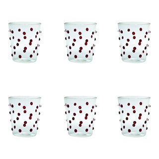 Party Tumbler in Red - Set of 6 For Sale