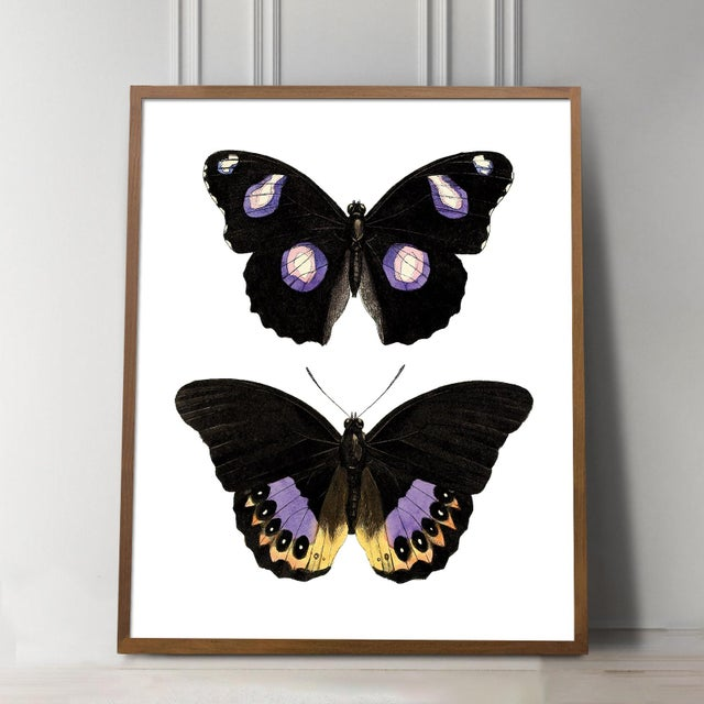 Not Yet Made - Made To Order Carnaby Butterflies in Purple and Yellow Art For Sale - Image 5 of 6