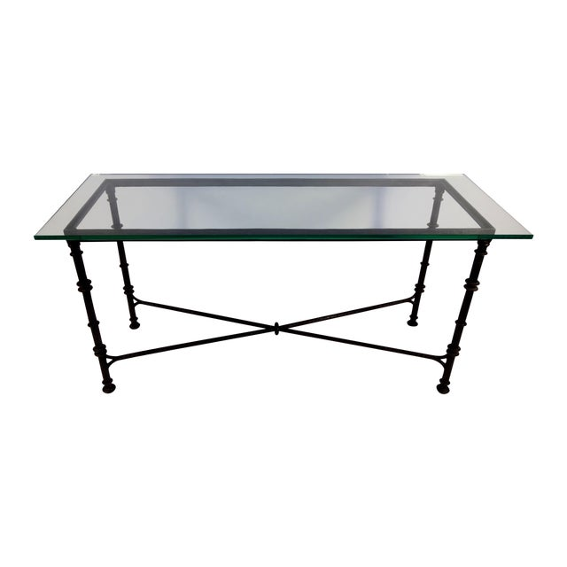Giacometti Style Wrought Iron Console Table - Image 1 of 8