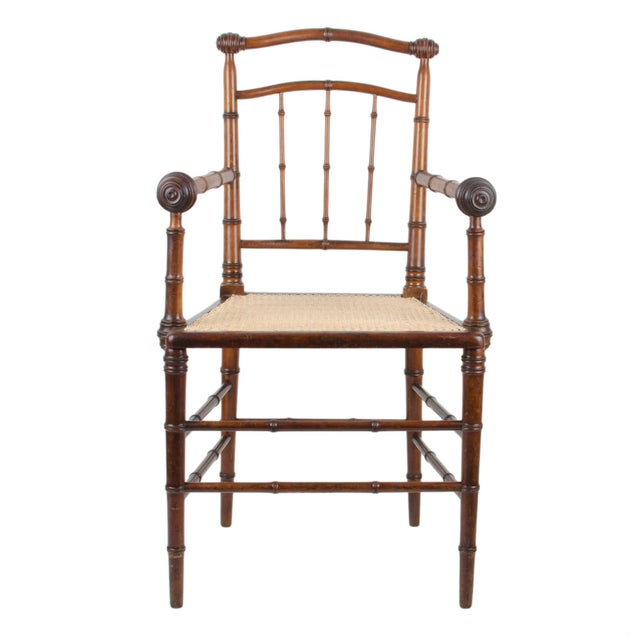 R.J. Horner & Co. Faux-Bamboo Armchair - Image 2 of 10