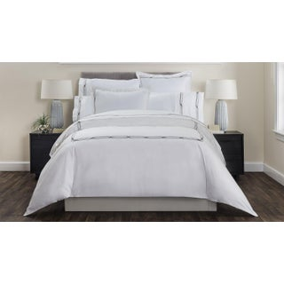 Saint-Tropez Embroidered Duvet Cover Queen - Anthracite/Greystone Preview