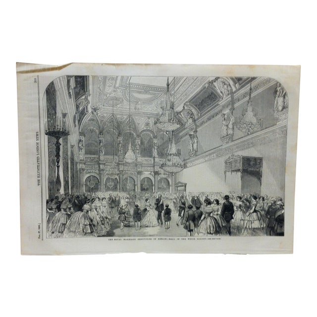 """Mid 19th Century Antique """"The Royal Marriage Festivities in Berlin"""" Print For Sale"""