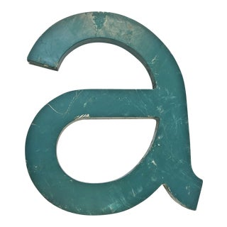 Vintage Metal Letter removed from Cocoa Village Dock, Florida