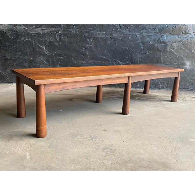 Mid Century Solid Teak Bench For Sale - Image 11 of 11