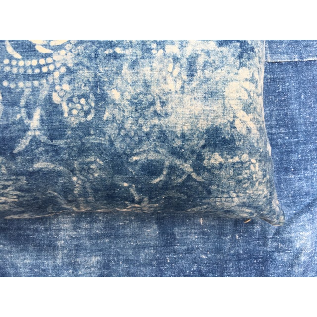 Antique Bleached Batik Pillow - Image 6 of 7