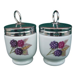 Royal Worcester Egg Coddlers - a Pair For Sale